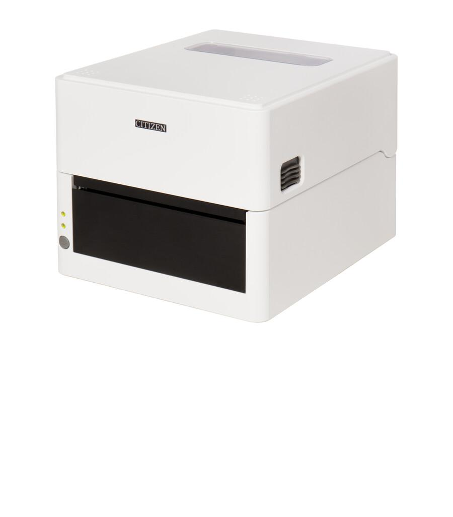Citizen CL-E300 Printer; LAN, USB, Serial, Pure White, EN Plug
