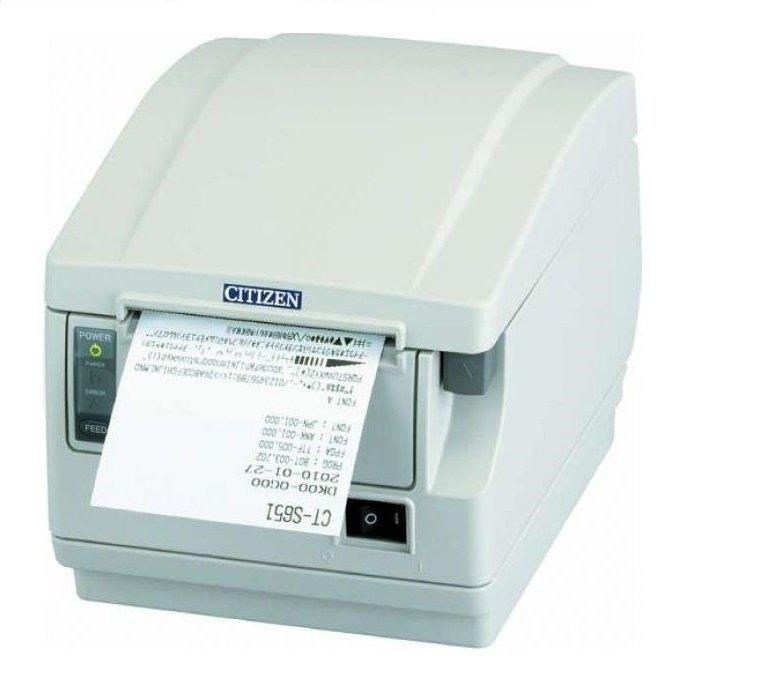 Citizen CT-S851II Printer; Bluetooth interface, Ivory White