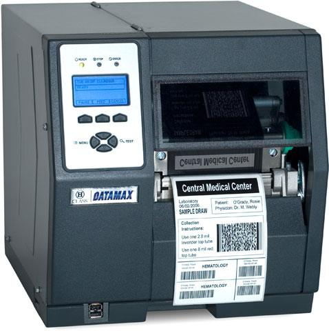 Datamax H-4606 - 4inch-600 DPI, 6 IPS, Bi-Directional TT Printer, 220v: GB and EU Plug, Cast Peel and Present Option and Internal Rewinder, 3.0inch Plastic Media Hub