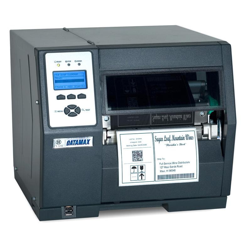 Datamax H-6210 - 6inch-203 DPI, 10 IPS, TT Printer, 220v: EU and GB Plug, Internal Rewinder, PL-Z Emulation, 3.0inch Metal Media Hub