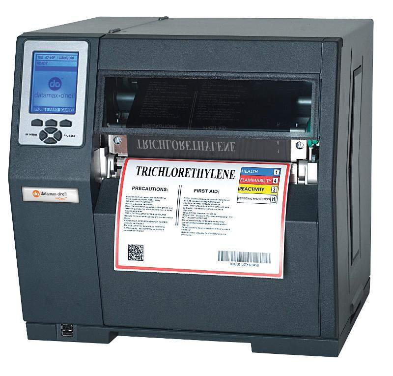 Datamax H-8308X - 8inch-300 DPI, 8 IPS, Bi-Directional TT Printer, 220v: EU and GB Plug, Internal Rewinder, Standard Cutter, 3.0inch Metal Media Hub