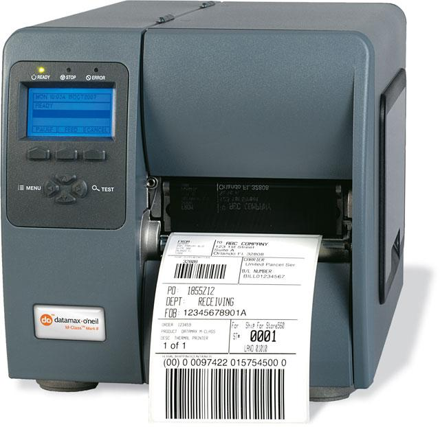 Datamax M-4308 - 4inch-300 DPI, 8 IPS, Printer with Graphic Display, Bi-Directional TT, 220v: EU and GB Plug, Internal LAN Option, Fixed Media Hanger