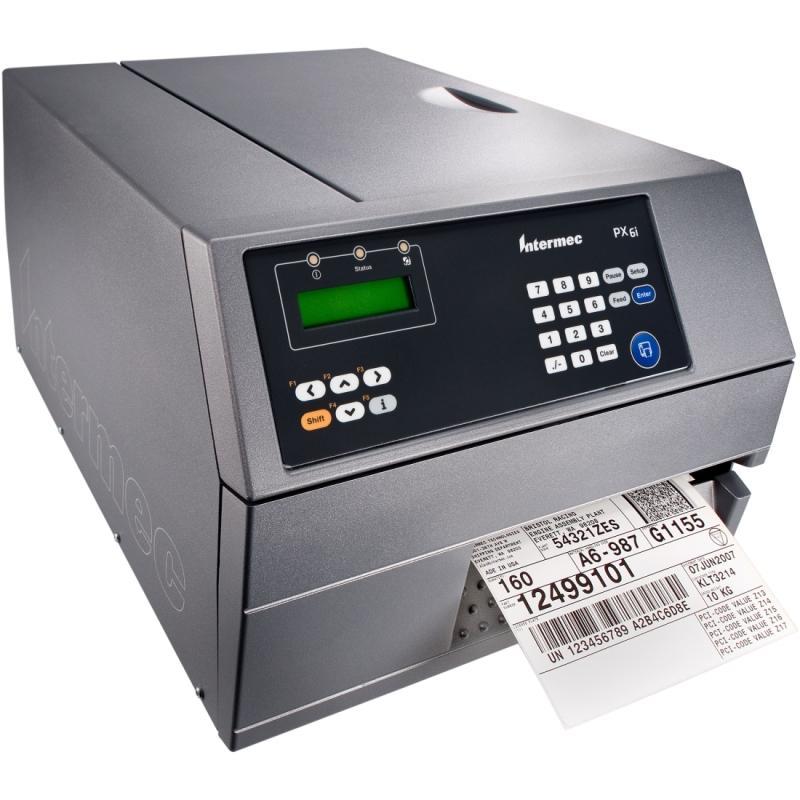 Термотрансферный принтер Intermec PX6i, TT, 203dpi, Self Strip, Label Taken Sensor,  Real Time Clock, Ethernet
