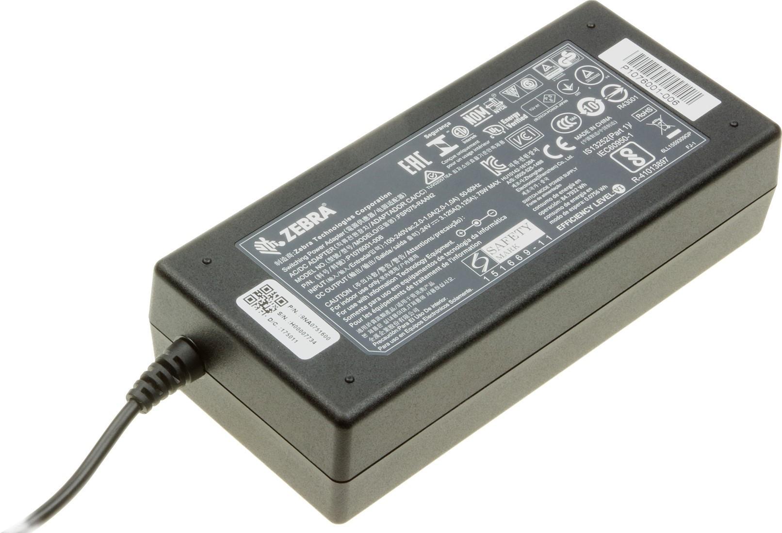 Блок питания 75W, 24V для принтера Zebra ZD410D, ZD420C, GX420D, GX420T, GX430T, ZD500