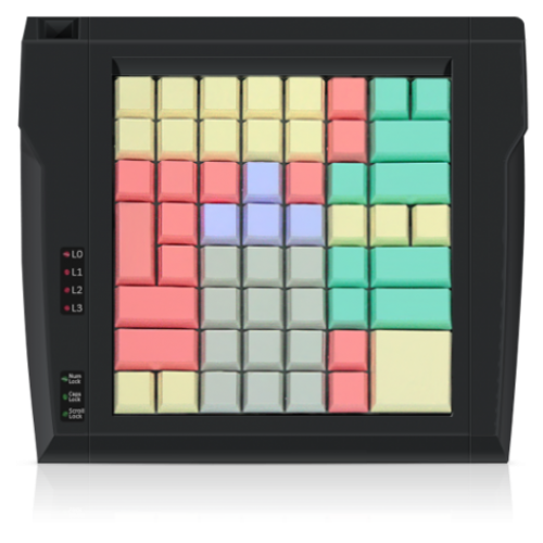 Программируемая клавиатура  стандартного типа Posua LPOS 64 клавиши, без считывателя (PS2) (Black)