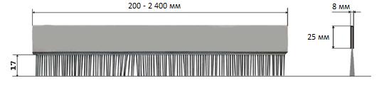 Щетка для снятия статического заряда с риббона EZ2200 Plus, EZ2300 Plus, EZ2050, EZ2150, EZ2250i, EZ2350i