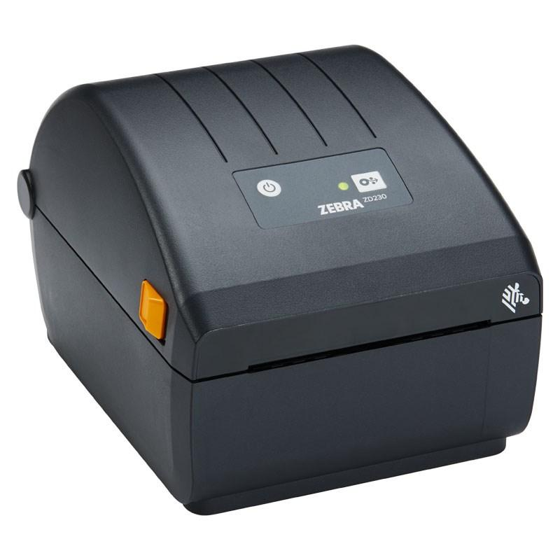 Zebra ZD230d Direct Thermal Printer ZD230; Standard EZPL, 203 dpi, EU and UK Power Cords, USB, Dispenser (Peeler)