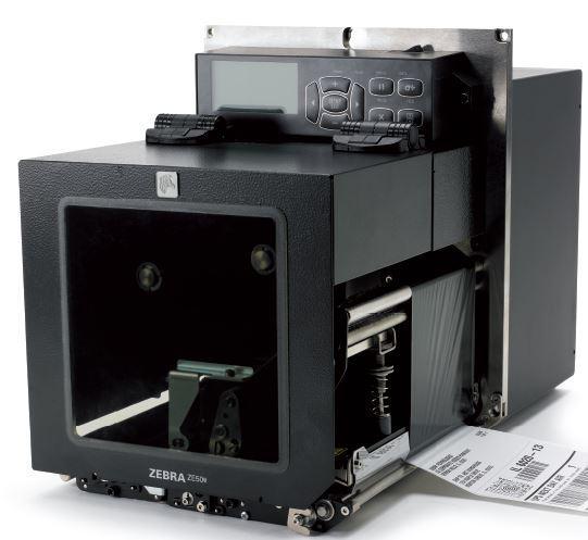 "Термотрансферный принтер Zebra ZE500 4"", RH;  203DPI, EURO / UK CORD, RS232, PARALLEL, USB, INT 10/100, ZPL II"