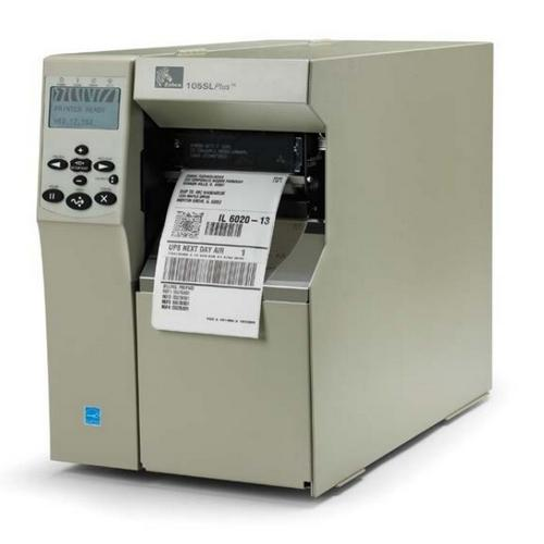 Zebra 105SL Plus, 203dpi, RS232,LPT,USB,Ethernet, внутренний смотчик