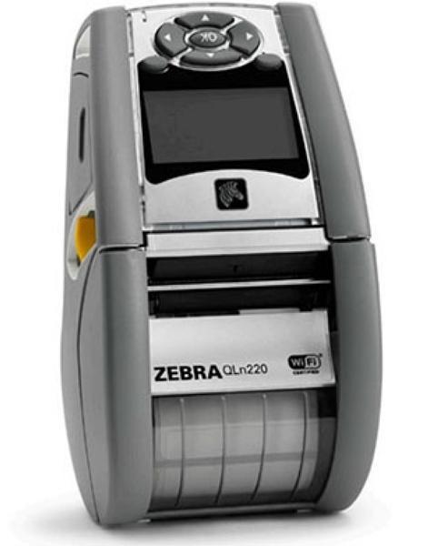 Zebra QLn 220 (ширина печати - 48 мм), 802.11a/b/g/n, Bluetooth 3.0 (Dual Radio), Linerless