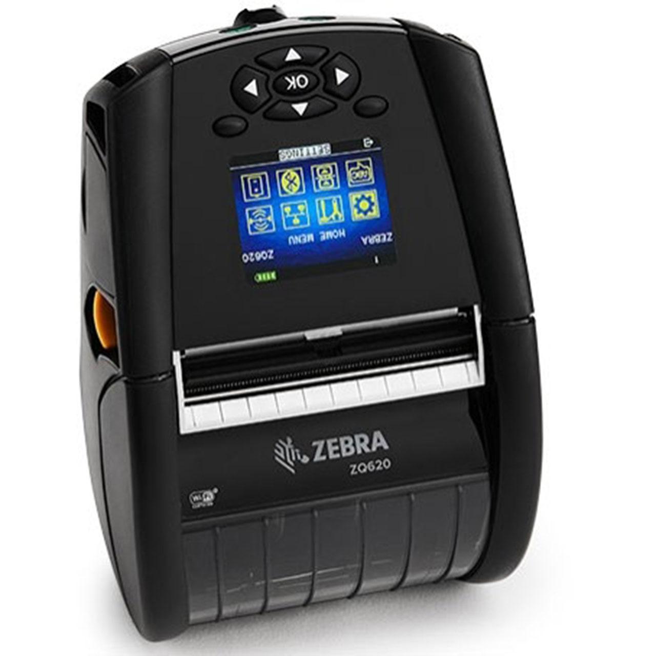 "Zebra DT Printer ZQ620 3""/72mm; English fonts,BT 4.x, Linered platen, 0.75"" core, Group E, Shoulder strap, Belt clip, Media Width Sen"