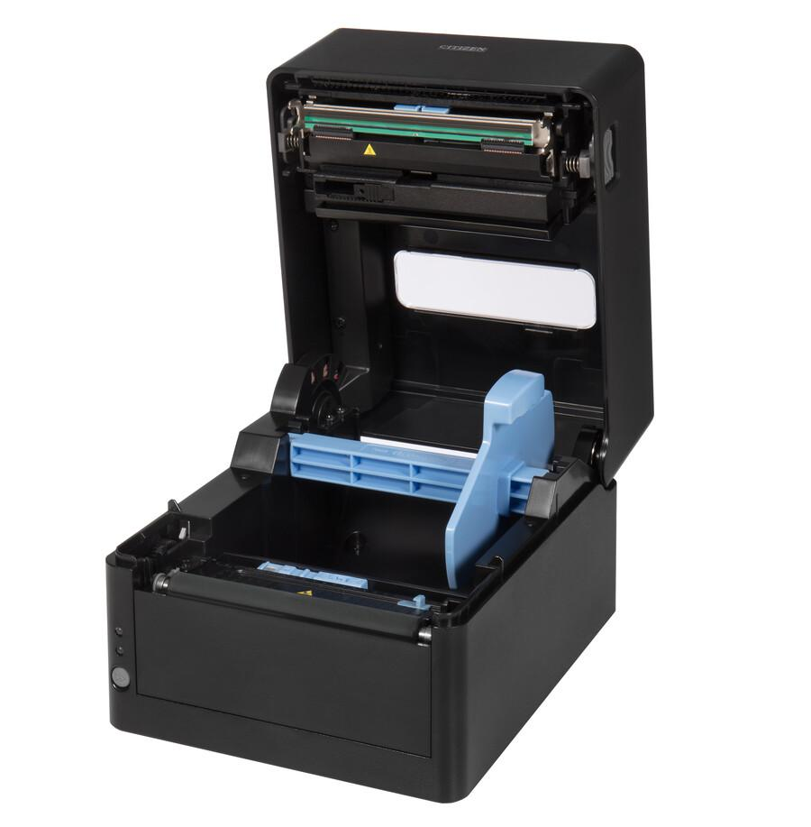 Citizen CL-E300 Printer; Barcode Cutter, LAN, USB, Serial, Black, EN Plug-1
