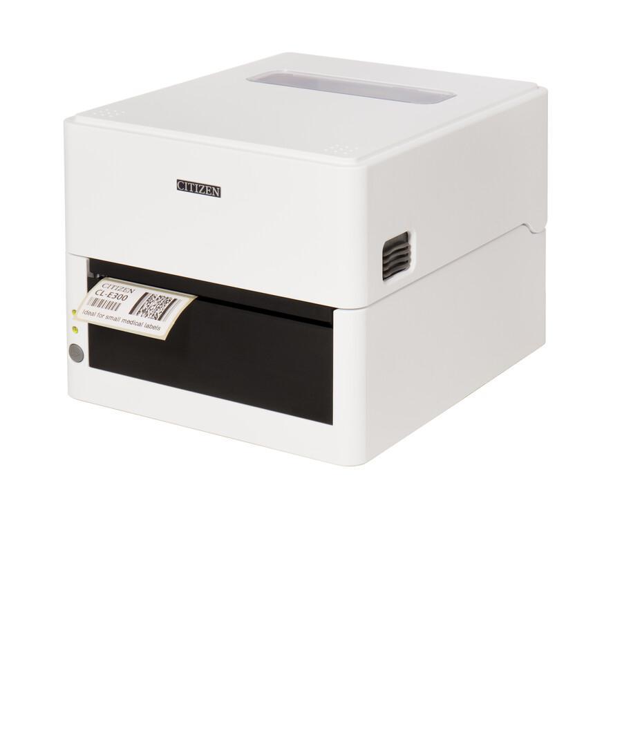 Термопринтер этикеток Citizen CL-E300 Printer; LAN, USB, Serial, Pure White, EN Plug-1