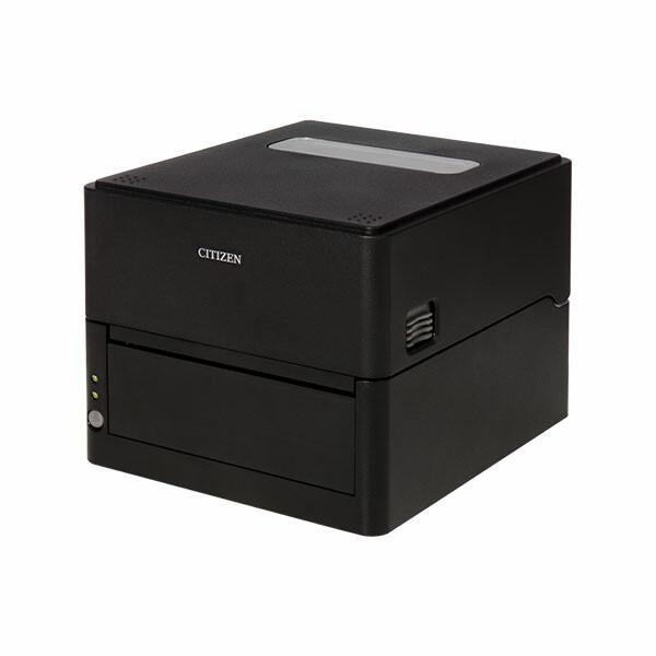 Citizen CL-E300 Printer; Barcode Cutter, LAN, USB, Serial, Black, EN Plug