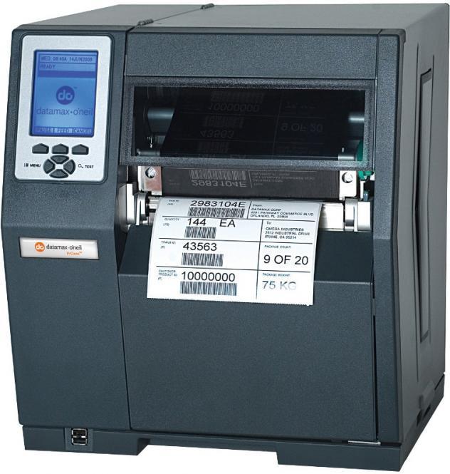 Datamax H-6308 300 DPI, TT, EU CORD, INTERNAL REWINDER, PLZ EMULATIONS, 3 INCH MEDIA HUB