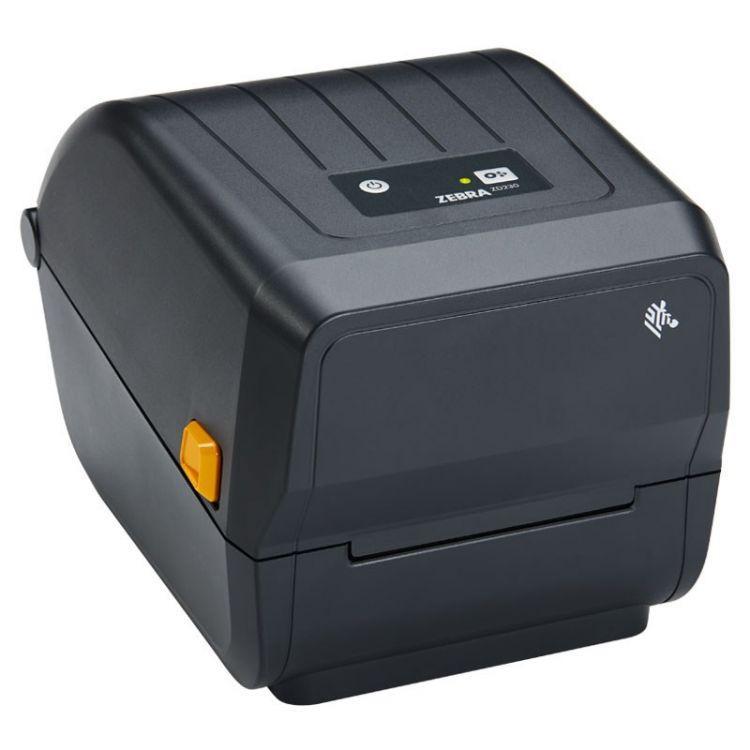 Zebra ZD220 Thermal Transfer Printer (74M) ZD220; Standard EZPL, 203 dpi, EU/UK Power Cord, USB, Dispenser (Peeler)