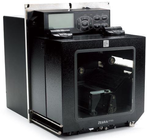 "Zebra ZE500 4"", LH; 203dpi, Euro / UK Cord, RS232, Parallel, USB, Int 10/100, RFID Configured for EMEA"