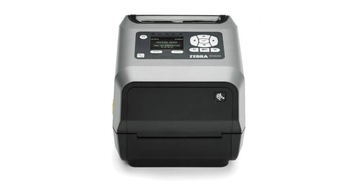 Zebra ZD620t 300 dpi, USB, USB Host, BTLE, RS232, Ethernet, LCD, Cutter [ZD62143-T2EF00EZ]-1