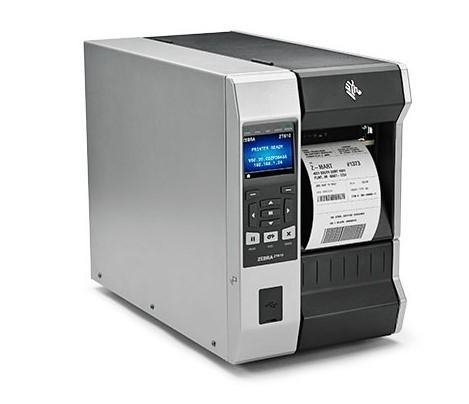 "Zebra TT Printer ZT610; 4"", 600 dpi, Euro and UK Cord, Serial, USB, Gigabit Ethernet, Bluetooth 4.0, USB Host, Tear, RFID UHF Encoder, Color Touch Display, ZPL-1"