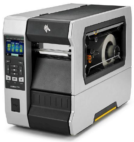 "Zebra TT Printer ZT610; 4"", 300 dpi, Euro and UK cord, Serial, USB, Gigabit Ethernet, Bluetooth 4.0, USB Host, Wireless 802.11 AC, Tear, Color Touch Display, ZPL"