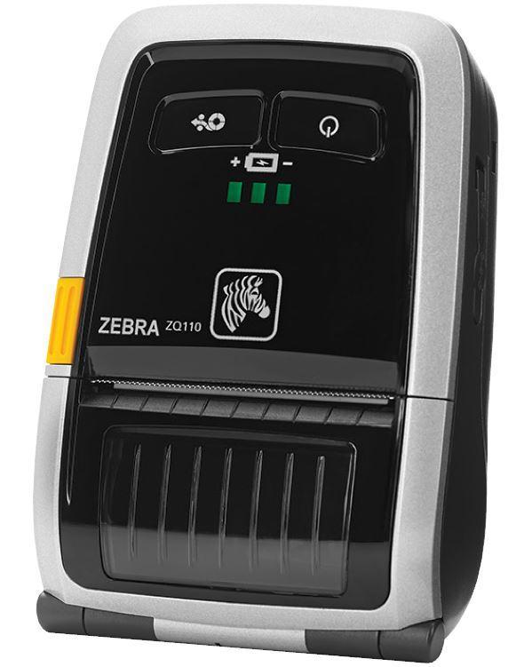 Термопринтер этикеток Zebra ZQ110 2'' Мобильный термо принтер, Bluetooth, считыватель маг. полосы,USB