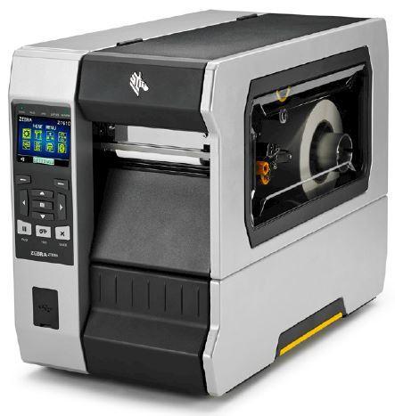 "Zebra TT Printer ZT610; 4"", 600 dpi, Euro and UK cord, Serial, USB, Gigabit Ethernet, Bluetooth 4.0, USB Host, Rewind, Color, ZPL"