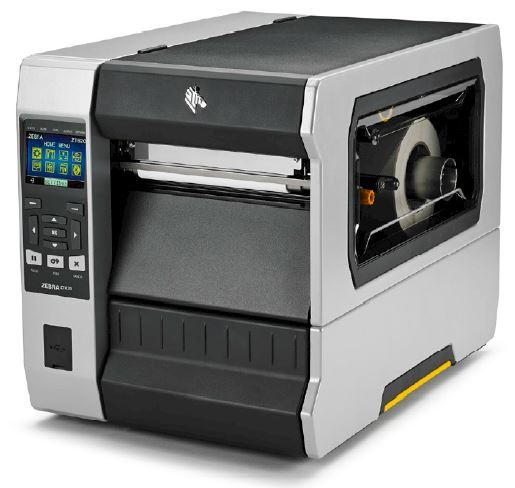 "Zebra TT Printer ZT620; 6"", 300 dpi, Euro and UK cord, Serial, USB, Gigabit Ethernet, Bluetooth 4.0, USB Host, Rewind, Color, ZPL"
